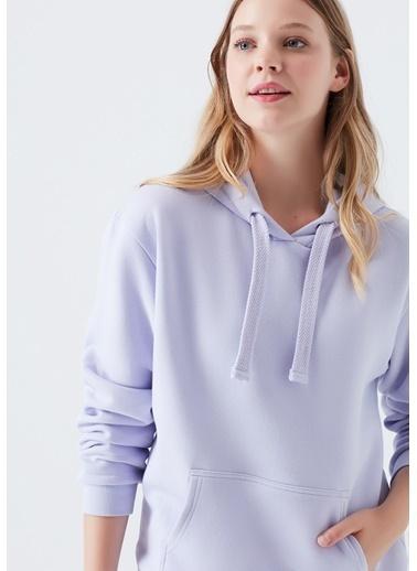 Mavi Sweatshirt Pembe